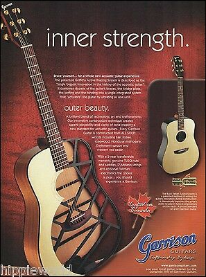 Garrison Griffiths Active Bracing System Acoustic Guitar ad 8 x 11 advertisement