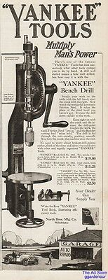 1918 Yankee Tools Bench Hand Drill No 1005 North Brothers Manufacturing Co Ad