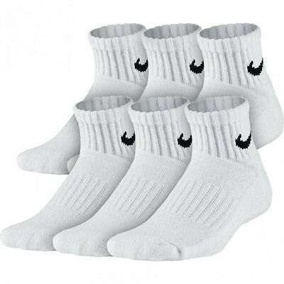 Boy's Nike Performance Big Kids Quarter Socks 6 Pair Size 5-7Y Large Sx4461 101