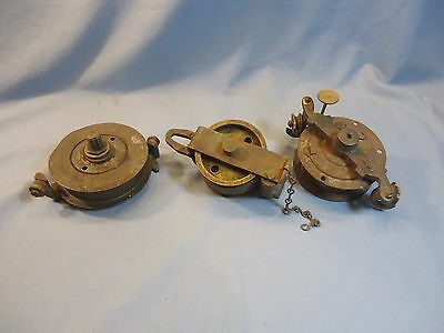 Lot Of 3 Antique Vtg Pull Down Oil Lamp Motor Parlor Library Saloon~Parts