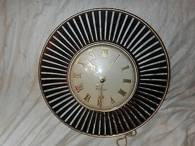 """VINTAGE 1950 s WESTCLOX MODEL S 8-S, 12"""" RADIATING WALL CLOCK, WORKING CONDITION"""