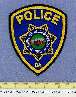 HILLSBOROUGH CALIFORNIA CA Sheriff Police Patch HILLS TREES
