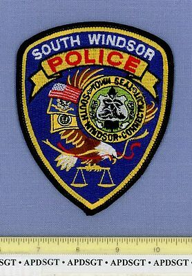 SOUTH WINDSOR CONNECTICUT CT Sheriff Police Patch TOWN SEAL