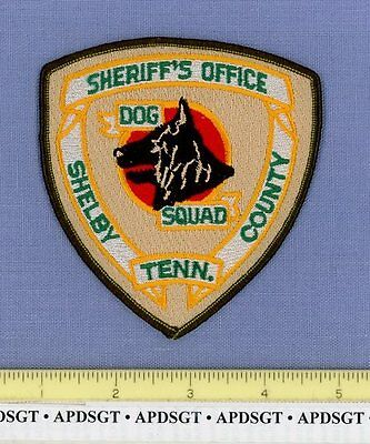 SHELBY COUNTY SHERIFF K-9 DOG SQUAD TENNESSEE TN Police Patch GERMAN SHEPHERD