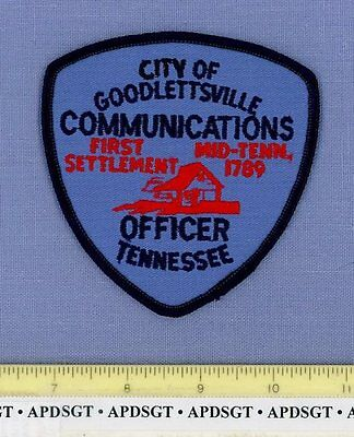GOODLETTSVILLE 911 COMMUNICATIONS OFFICER TENNESSEE TN Police Patch LOG CABIN