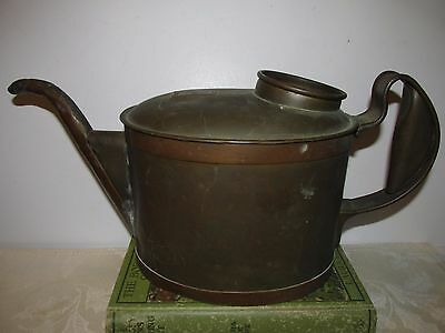Vintage Antique ? Rustic Mixed Metal Copper Watering Can - Marked with E