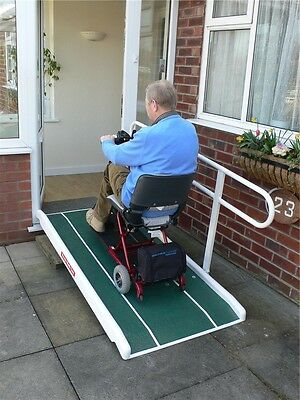 Jetmarine Standard Wheelchair/Mobility Scooter Access Ramp w/ Folding Handrail