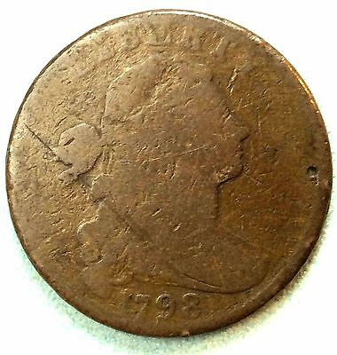 1798 Large Cent S 179 R3 Nice FREE SHIPPING