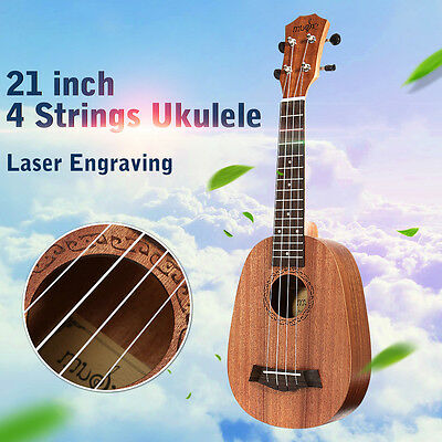 "21"" Inch Pineapple Pattern Soprano Ukulele Uke Music Instrument Hawaiian Guitar"