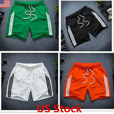 Mens Breathable Quick-dry Beach Wear Pants Casual Sport Running Short Pants USA