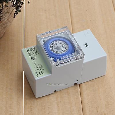 DIANQI AC 220V 16A 24H Analog Mechanical Switch Time Manual / Auto Control Timer