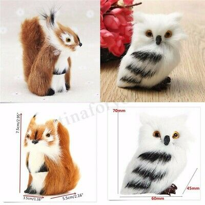2X Furry Squirrel/Owl Ornament Decoration Adornment Christmas Tree Hanging Gift