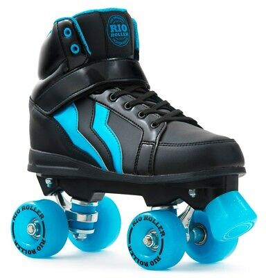 Rio Roller Kicks Boys,Mens Quad/Roller Skates - Black Blue  *Limited Edition*
