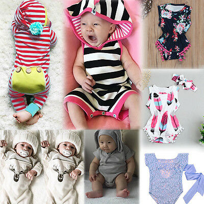 Toddler Infant Baby Kids Girl Boy Romper Jumpsuit Playsuit Outfits Clothes Lot