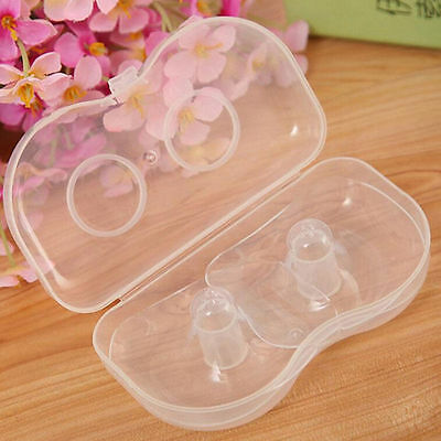 2 Pcs Silicone Nipple Shields Protectors Shield Breast Feeding for Baby