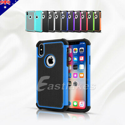 iPhone 7 8 Plus 11 Pro Max XS Tough Armor Hybrid Shockproof Case Cover For Apple