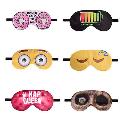 Sleep Eye Mask Bedtime Home Travel Men Women Funny Novelty Eyeshade Blindfold