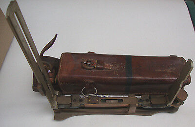 WW2 dated 1940 leather cased timbers mark VI clinometer by P.T.I Co ltd No b1926