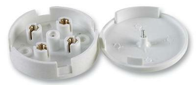 ROUND JUNCTION BOX 5A 20A 30A WHITE Electrical Fitting 4 TERMINA