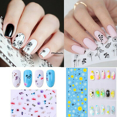 Nail Art Water Transfers Decals Stickers Dandelion Theme Manicure Decoration DIY