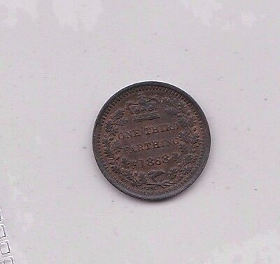 1868 Victorian Third Farthing In Near Mint Condition