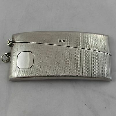 LOVELY ANTIQUE SILVER CARD CASE BIRMINGHAM 1923 GOOD CONDITION 41 g