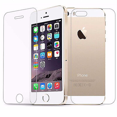 FRONT + BACK FULL BODY Tempered Glass Screen Protector Apple iPhone 5,4, 6 Plus