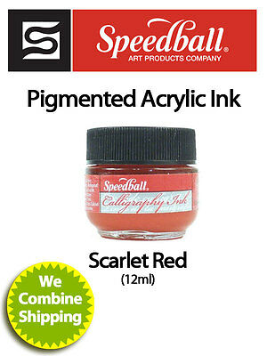 SPEEDBALL Pigmented Acrylic Ink 12ml Scarlet Red 3101