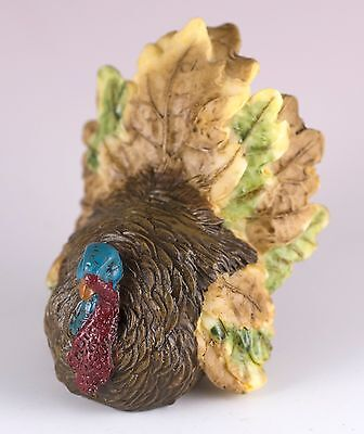 "Thanksgiving Turkey Figurine 2.25"" High Resin New in Box"
