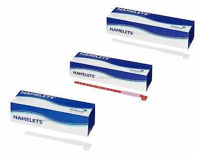Robinson Healthcare Namelets - Write-On Patient Identity Bands (Box of 100)