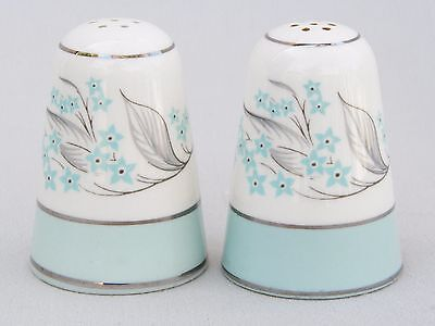 Vintage Sevron Dinnerware Blue Lace Salt & Pepper Shakers