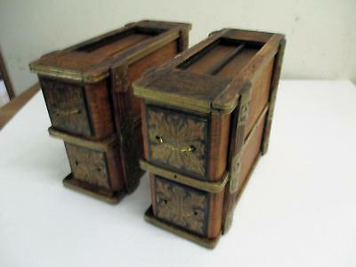 Set 4 Ornate Singer / White Treade Sewing Machine Cabinet Drawers with Frames