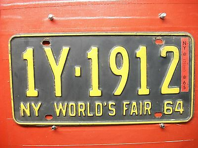 New York = 1964-65  Worlds Fair  = Passenger Plate = 690