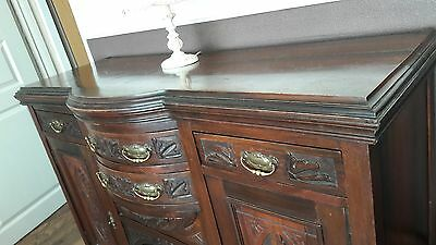 Sideboard c1890 vintage antique BOW FRONT BEAUTIFUL MUST SEE