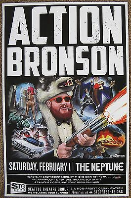ACTION BRONSON 2014 Gig POSTER Seattle Concert Washington