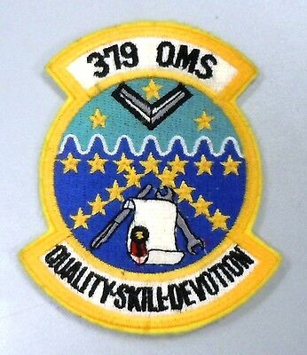 USAF AIR FORCE MILITARY PATCH SAC 379th ORGANIZATIONAL MAINTENANCE SQUADRON OMS