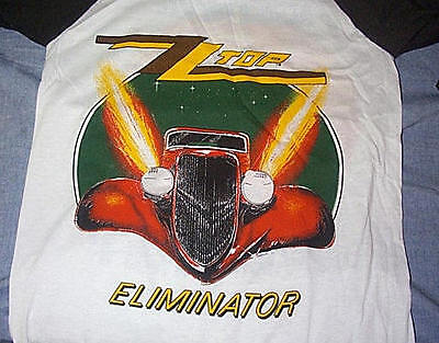 ORIGINAL LICENSED 1983-84 ELIMINATOR Tour Jersey Large, Med, More ZZ in my store