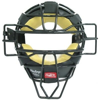 Rawlings Face Mask PWMX-B Adult Solid Wire Umpire Mask Black Catchers Mask
