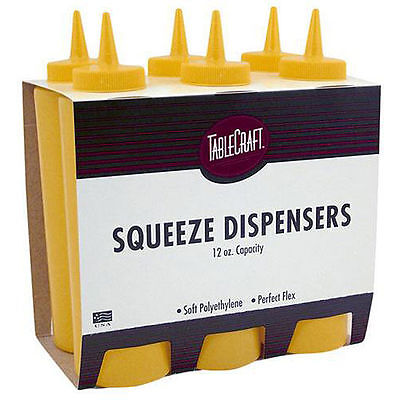 Tablecraft 12-oz Yellow Squeeze Bottles (Pack of 12)