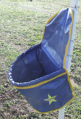 Ecotak PVC Portable Feed Bag - Royal Blue with Yellow Trim Ecotak