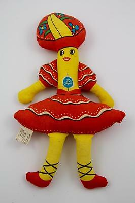 1975 Vintage Chiquita Banana Stuffed Doll With Tag-Chase Bag Co. Reidsville, NC