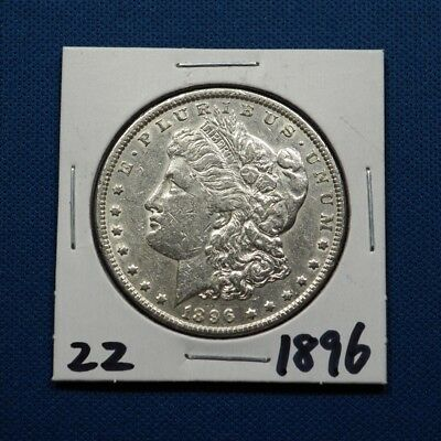 1896 Morgan Silver Dollar $1 Coin Genuine High Grade #S22