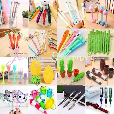 40Style Ball Point Pen Roller Ball Pencil School Supplies Home Office Stationery
