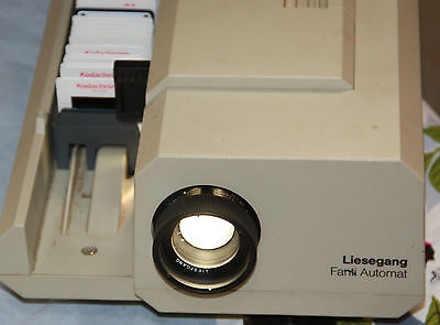 slide projector Liesengang West Germany vintage slide projector & 2 sliders