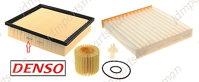DENSO (Pack of 3) - Air Filter + Cabin Filter + Oil Filter fits Toyota Lexus