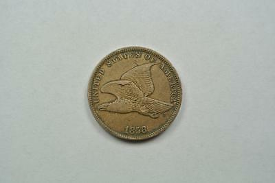 1858 Flying Eagle One Cent, Penny, Small Letters, VF Condition - C3910