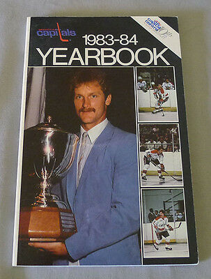 Original NHL Washington Capitals 1983-84 Official Hockey Media Guide