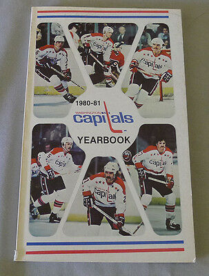 Original NHL Washington Capitals 1980-81 Official Hockey Media Guide