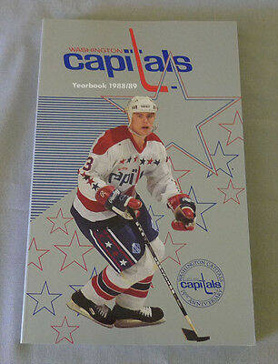 Original NHL Washington Capitals 1988-89 Official Hockey Media Guide