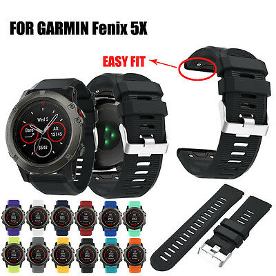 2017 Replacement Silicagel Soft Quick Release Kit Band Strap For Garmin Fenix 5X